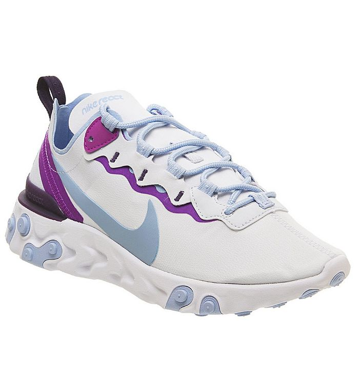 Nike Element React 55 Football Grey Psychic Blue Hyper Violet - Hers