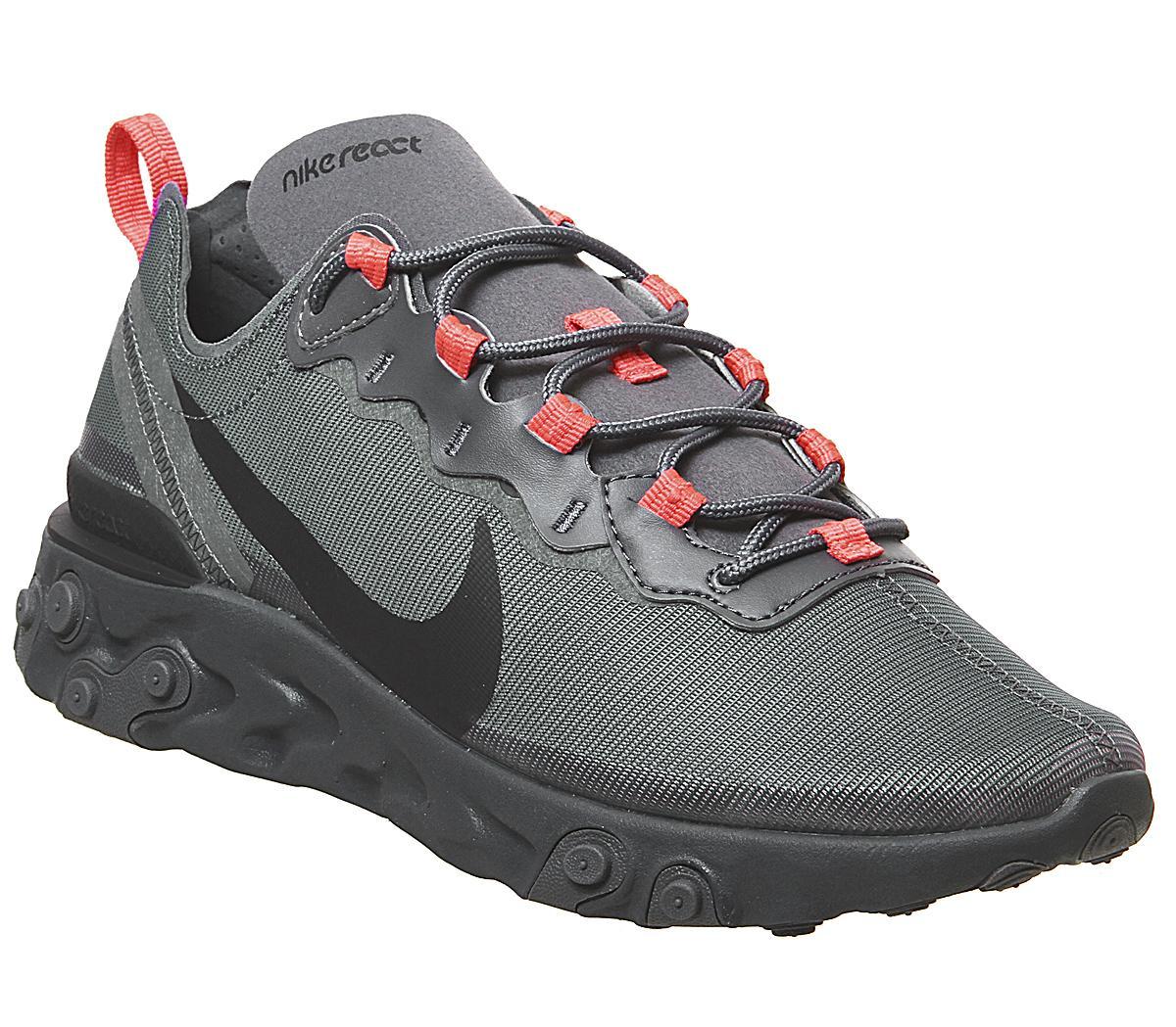 Nike React Element 55 Trainers Dark