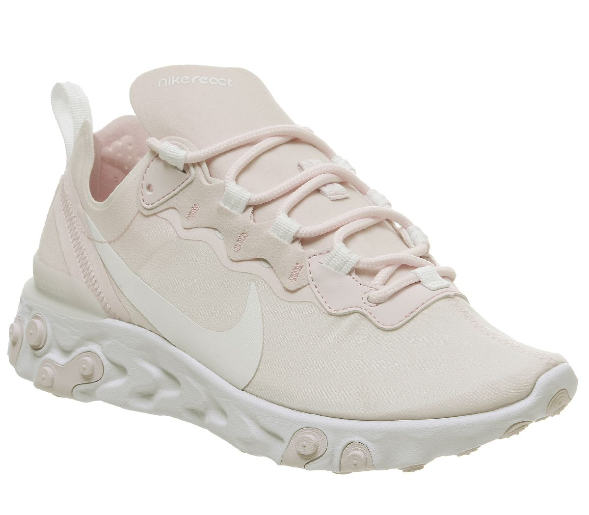 half off 80fa9 605f8 Nike React Element 55 Trainers Pale Pink White White Pale Pink F ...