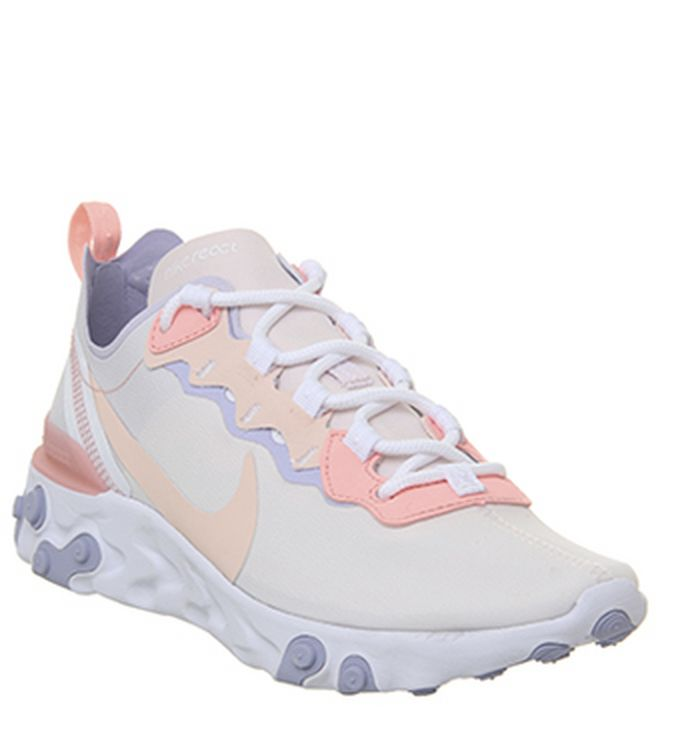 7f1d783fb34e Nike React Element 55 Trainers White Pure Platinum. £115.00. Quickbuy.  Launching 02-05-2019