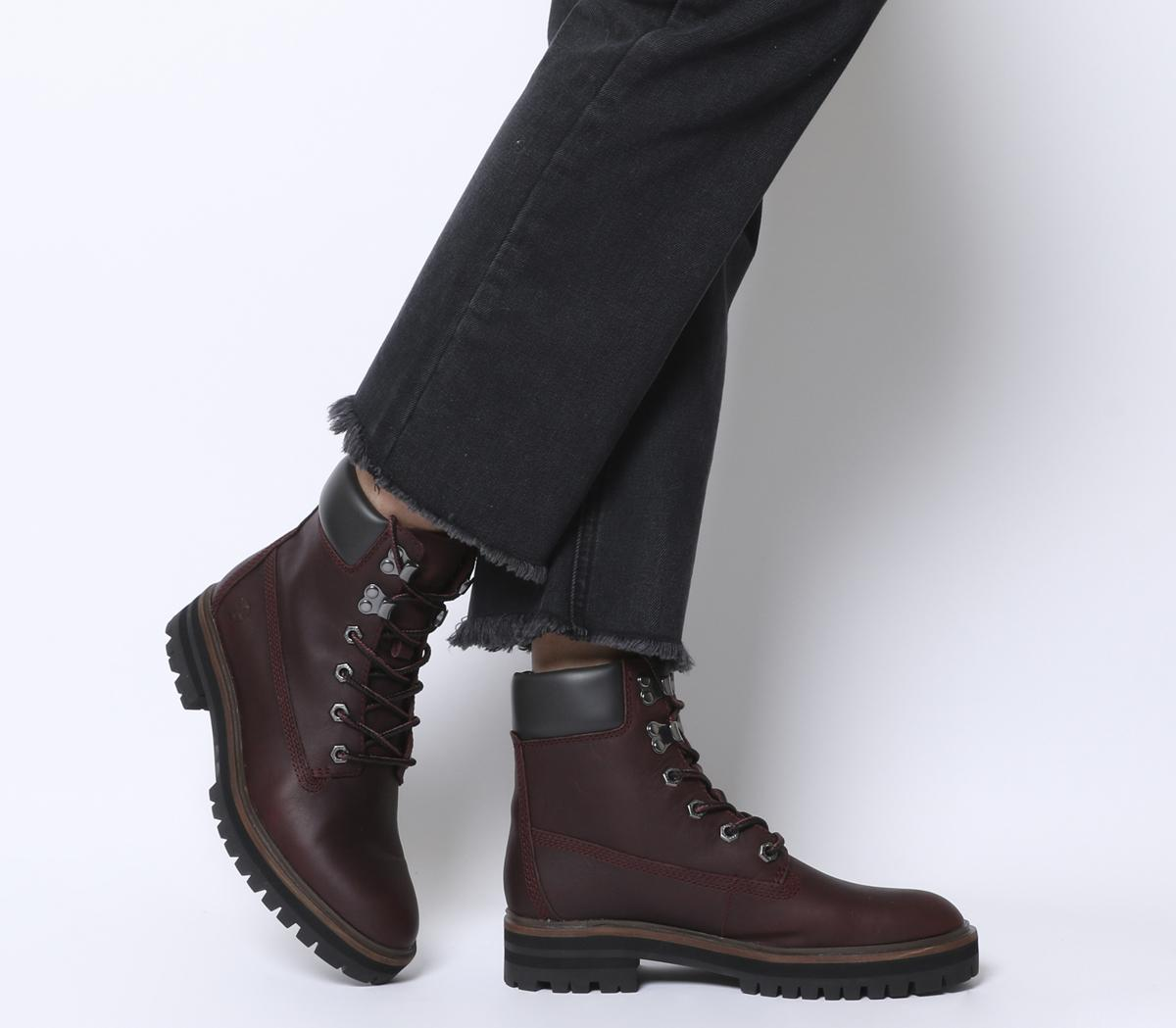 Timberland® Burgundy London Square 6 Inch Boots