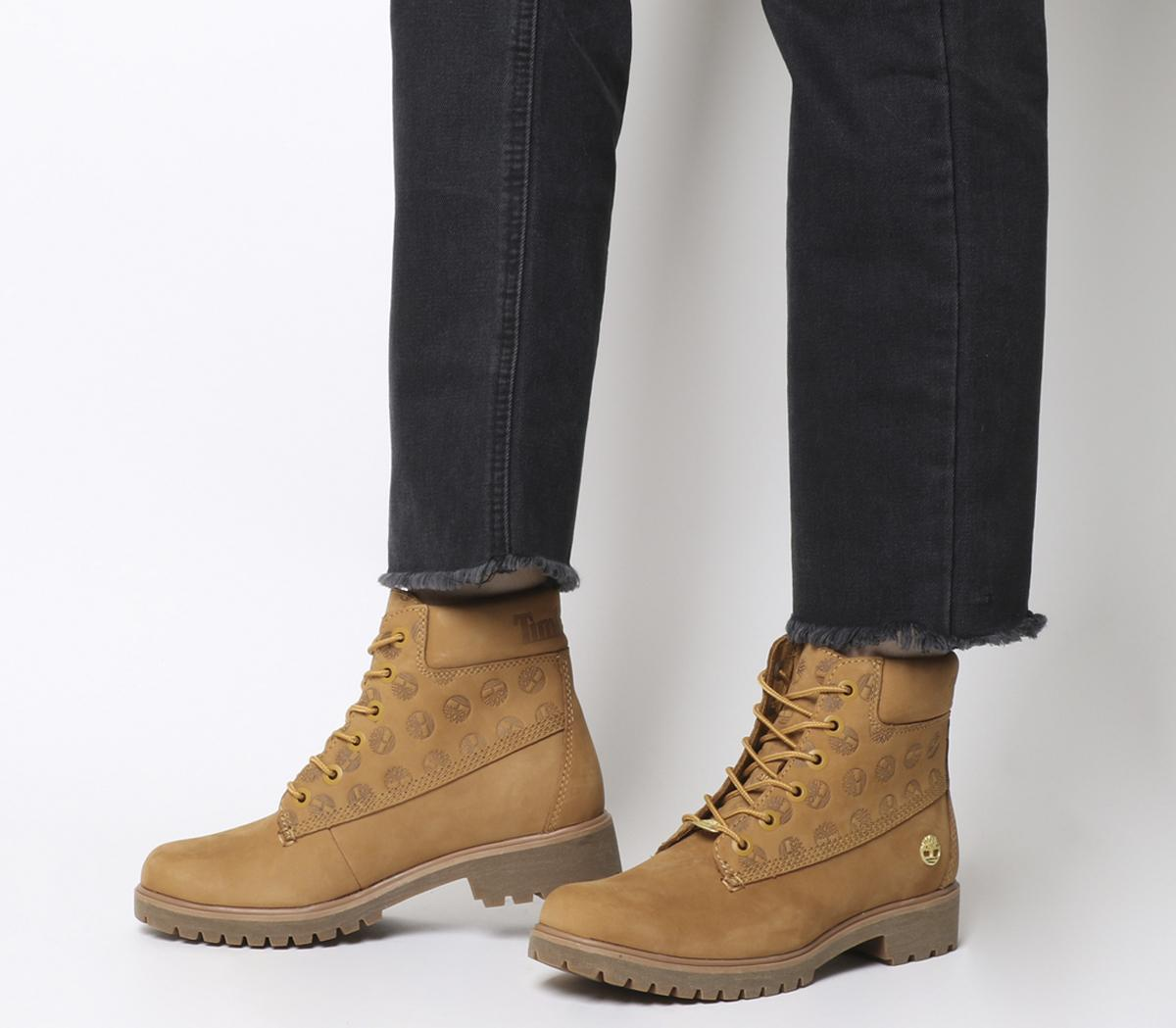 Timberland Slim Nellie Chukka Boots Wheat Nubuck Ankle Boots