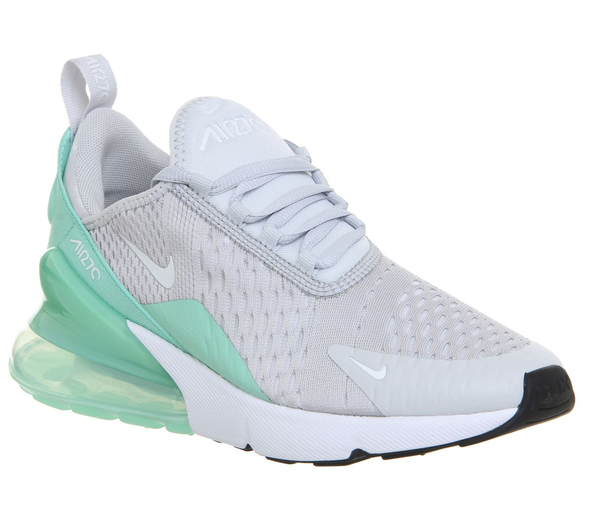 new product beb1d 3c300 Nike Air Max 270 Gs Trainers Pure Platinum White Emerald Rise - Unisex