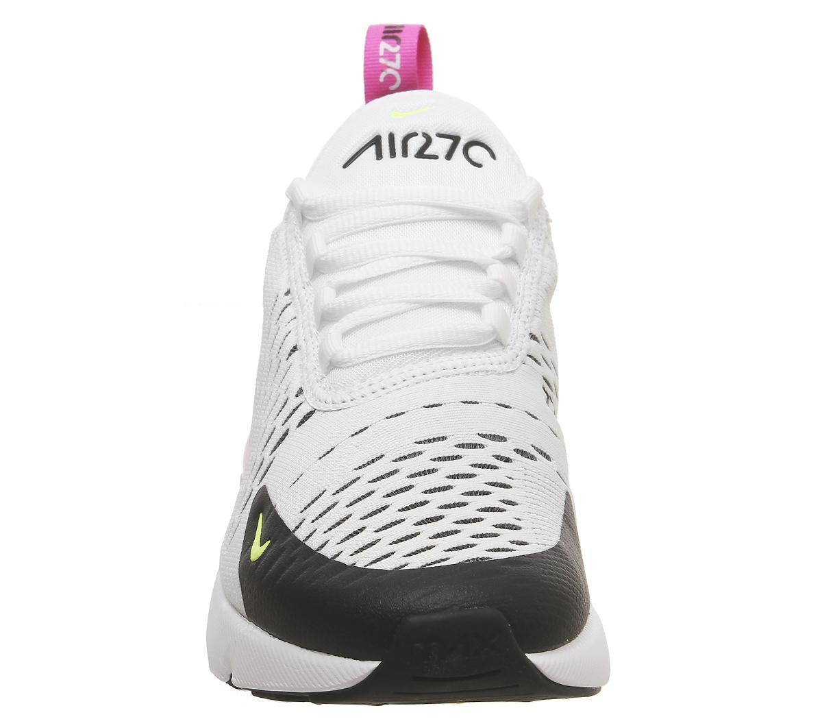 Nike Air Max 270 Gs Trainers White Volt Black Laser Fuchsia