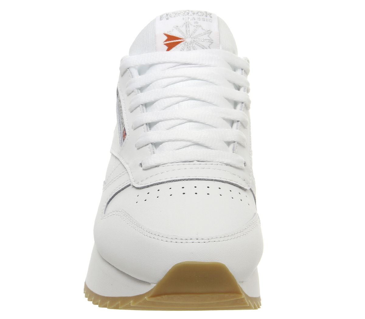 4eb8dbd9dd7 Reebok Classic Leather Double Trainers White Gum Silver Metallic ...