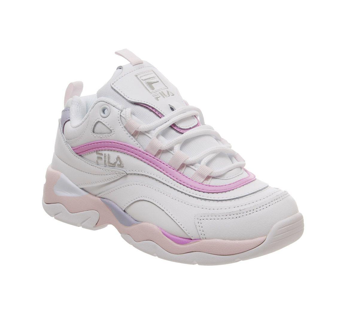 8a68f4e0d589 Fila Fila Ray Trainers White Heavenly Pink Purple - Hers trainers