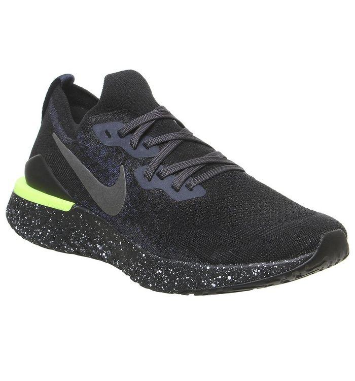 Nike Epic React Flyknit BLACK,Black
