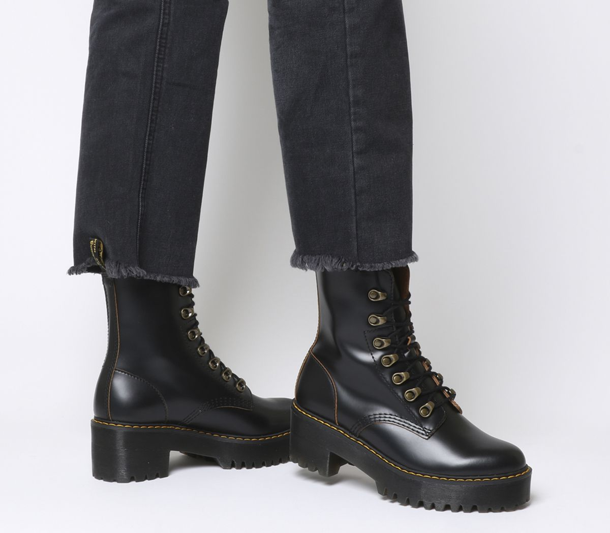 a6030375ad5 Dr. Martens Leona Lace Boots Black - Ankle Boots