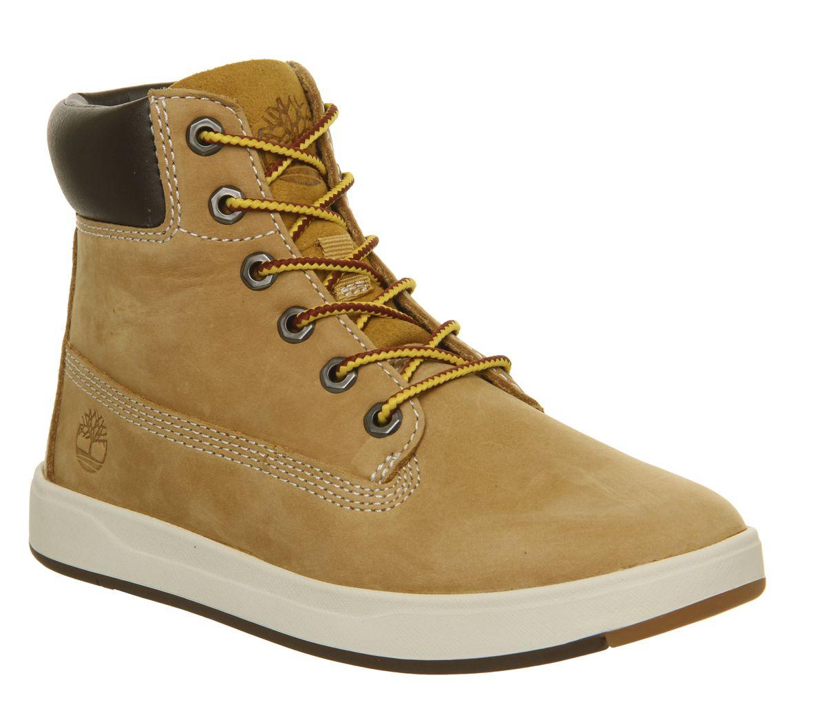 d6cee50d1b626 Timberland Davis Sqaure 6 Inch Boots Youth Wheat Naturebuck - Unisex