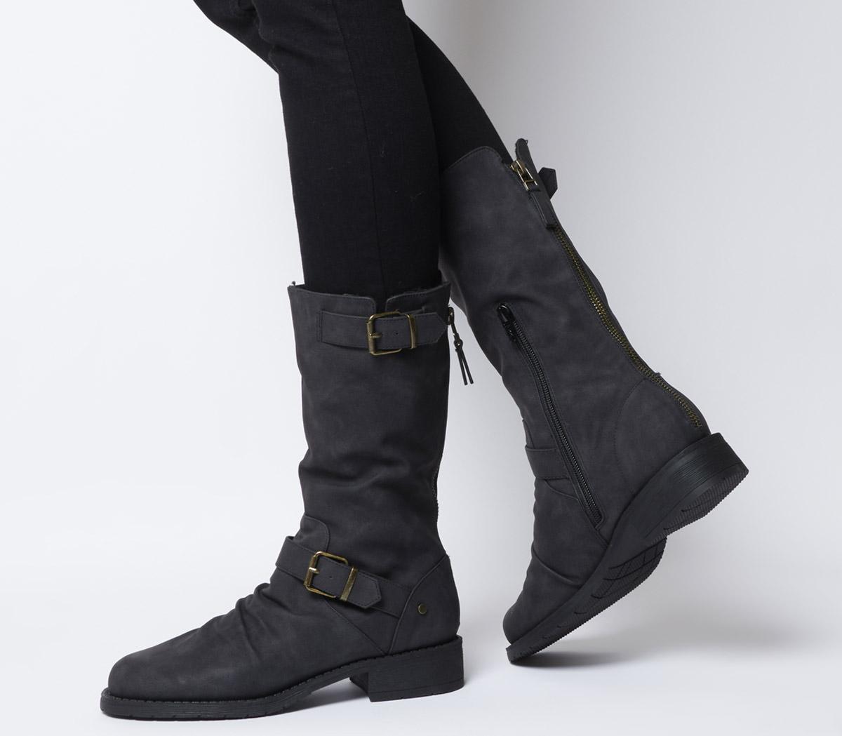 Kale Calf Biker Boots