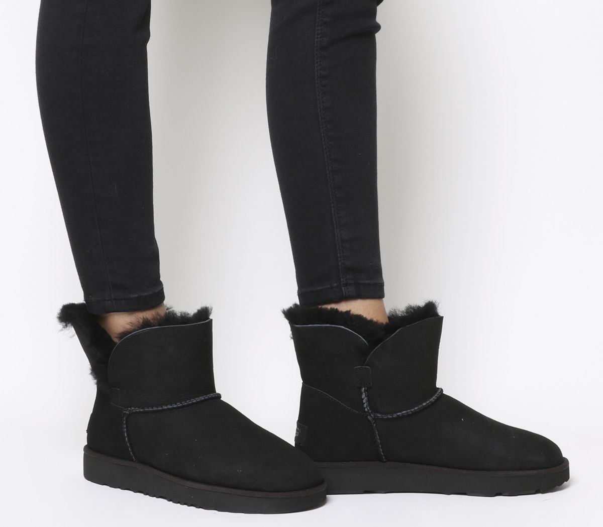 6a140c48ad UGG Classic Cuff Mini Boots Black - Ankle Boots