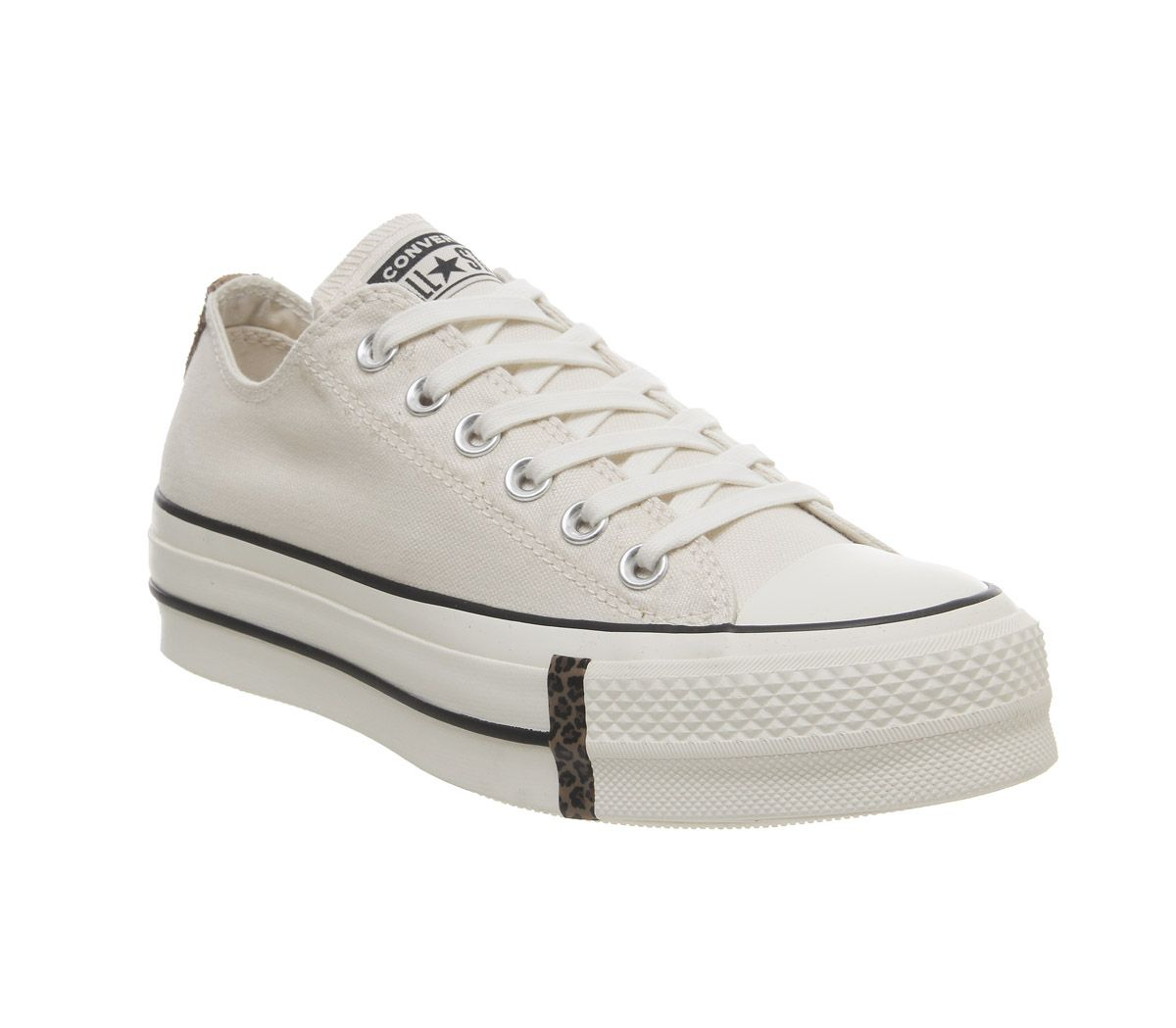 8e166d1ef13d10 Converse All Star Lift Low Leather Natural Ivory Egret Animal ...