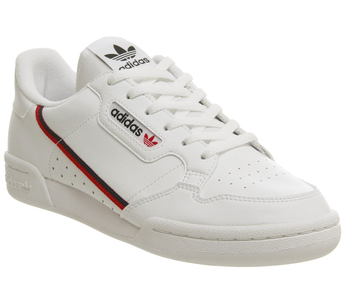 548b2134 adidas Continental 80s Junior Trainers White Scarlet Collegiate Navy ...