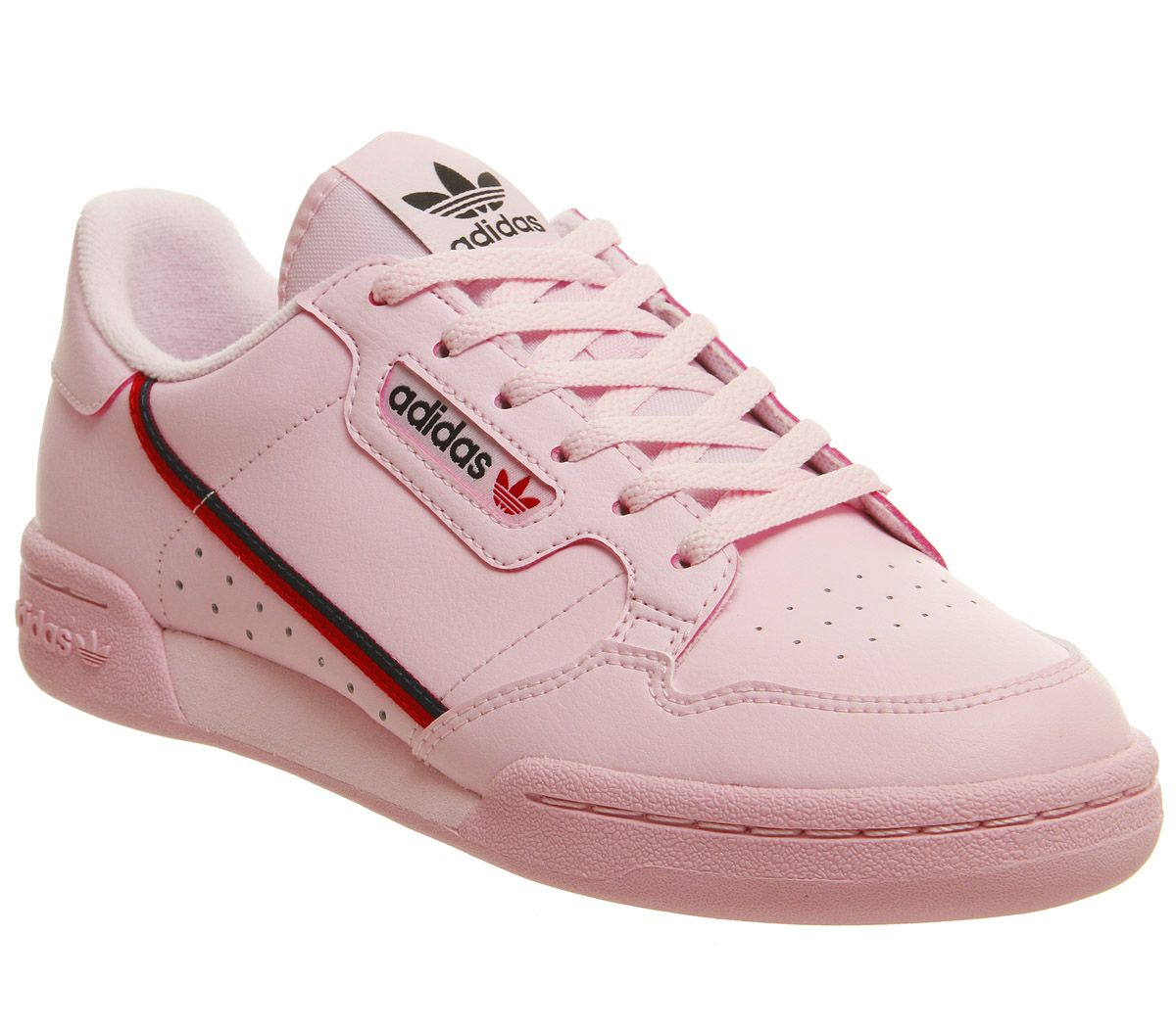 reputable site fb7bb a67c3 adidas Continental 80s Jnr Trainers Clear Pink Scarlet Colleagite ...
