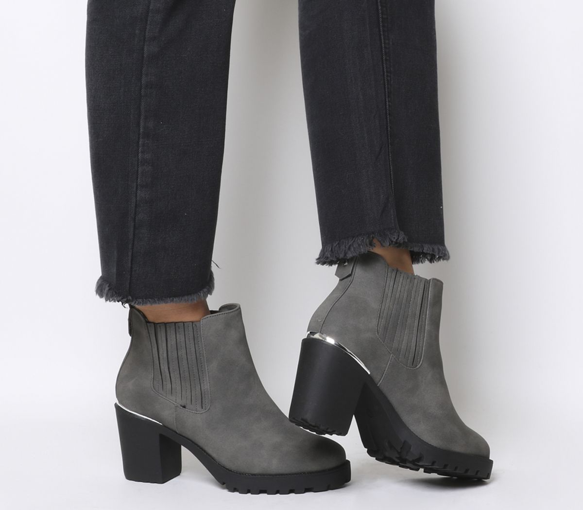 44a0004c6a7e Office Agile Chunky Chelsea Boots Grey - Womens Chelsea Boots