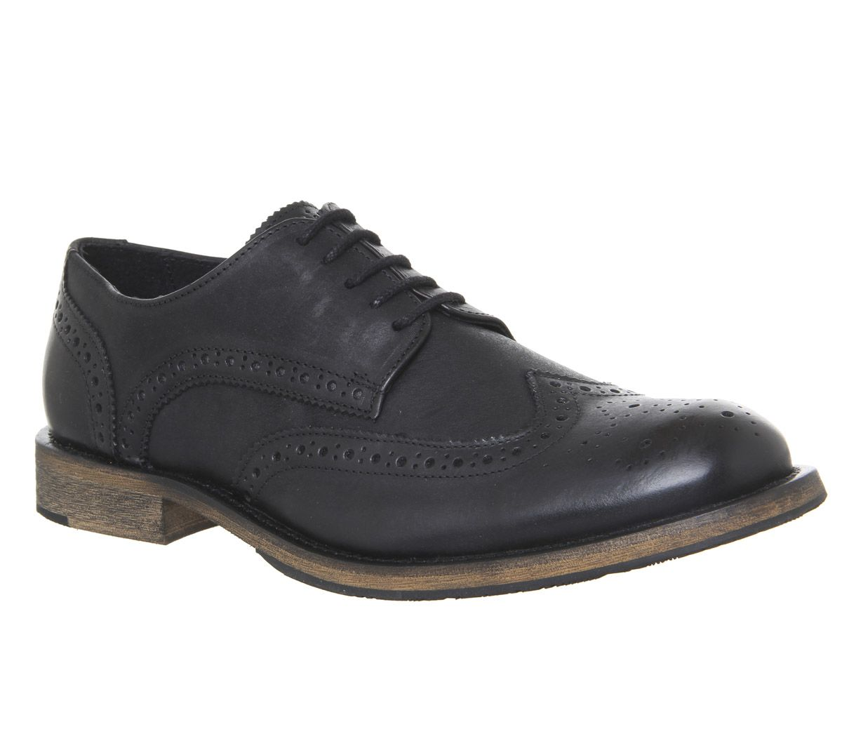 sale retailer 276e6 a64f7 Ask the Missus Impulse Brogues Black Washed Leather - Casual
