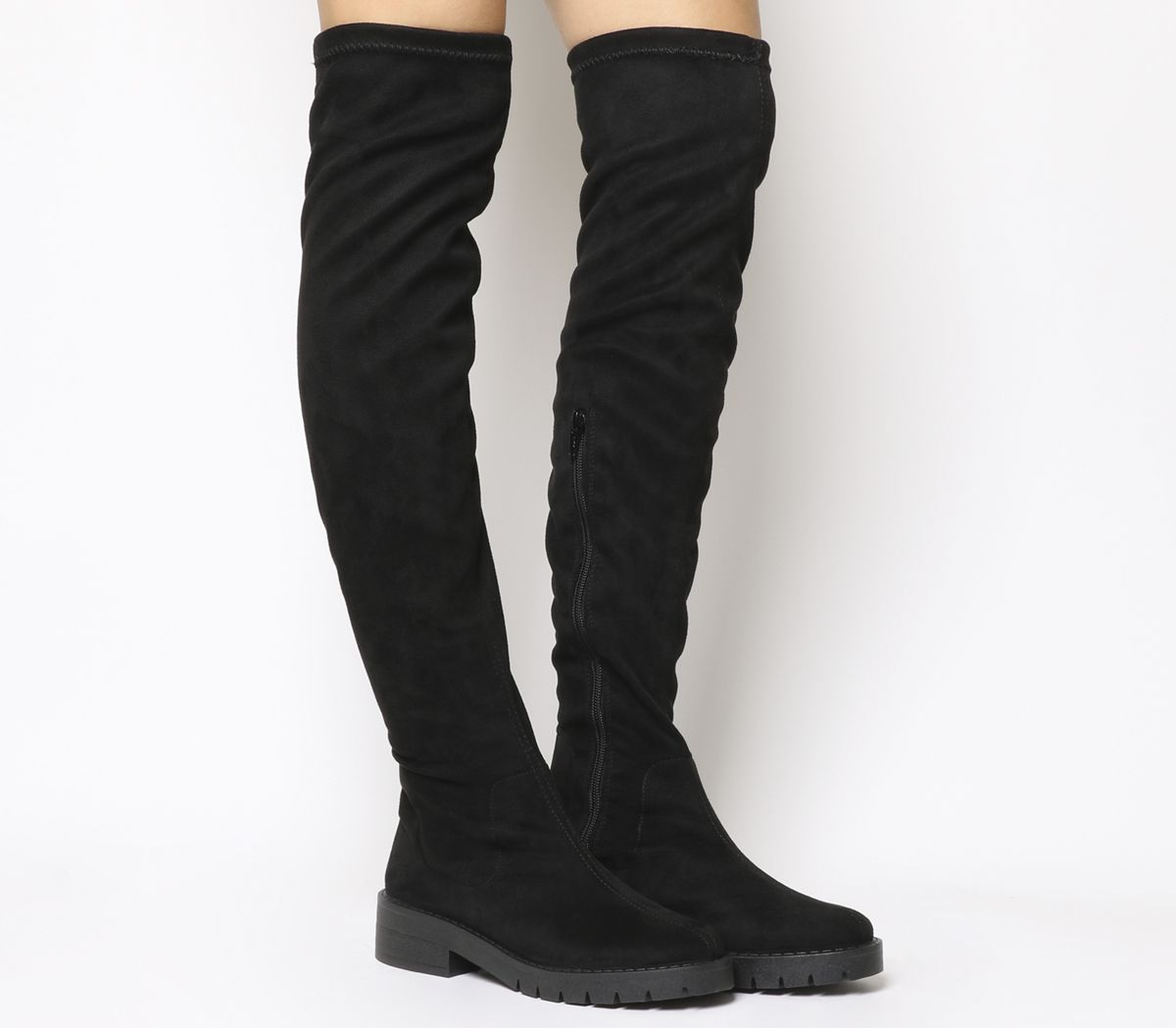 2ba6ec88a175 Office Knuckles Stretch Over The Knee Boots Black - Knee Boots