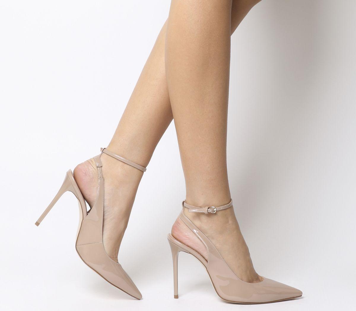 807766d7ac1 Hustler Ankle Strap Court Heels