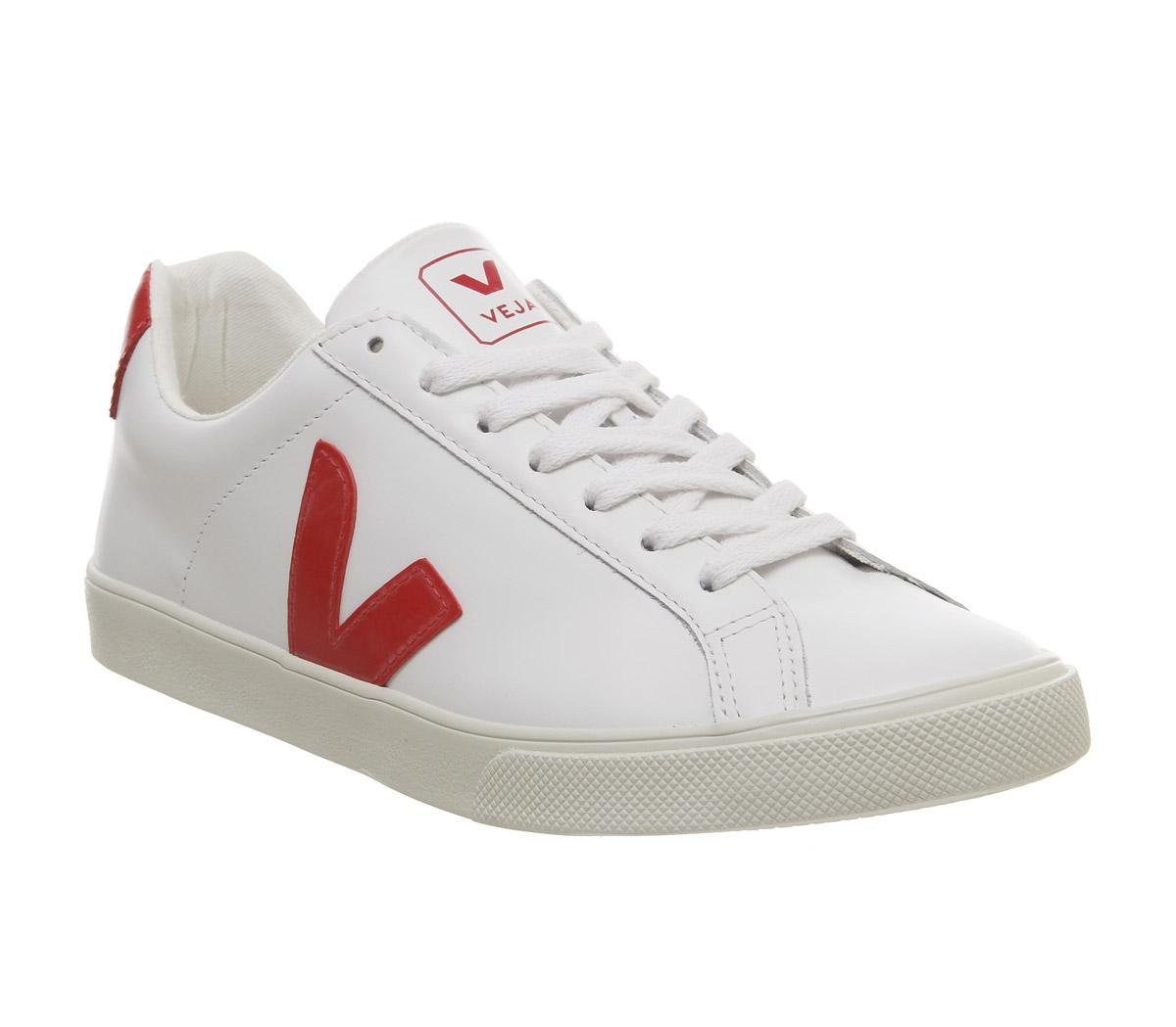 Veja Esplar Trainers White Red F - Hers