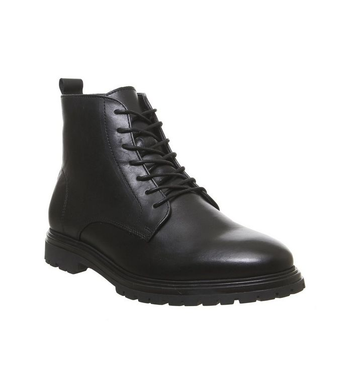 ask the missus isolate lace boot black leather