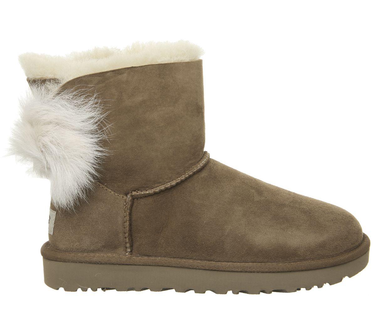 c08cae5f72a Fluff Bow Mini Boots