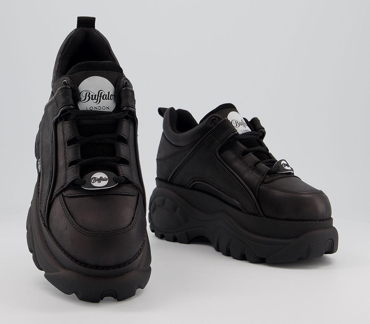 c2a953d8fa4b Buffalo Buffalo Classic Low Sneakers Black - Hers trainers