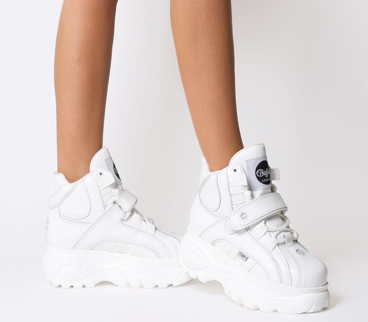 cc8267b4522 Buffalo Buffalo Classic High Sneakers White - Hers trainers