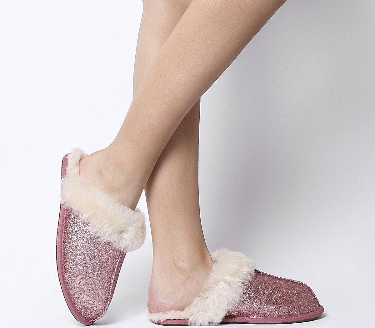 ea1383755791 UGG Scuffette II Sparkle Slippers Pink - Flats