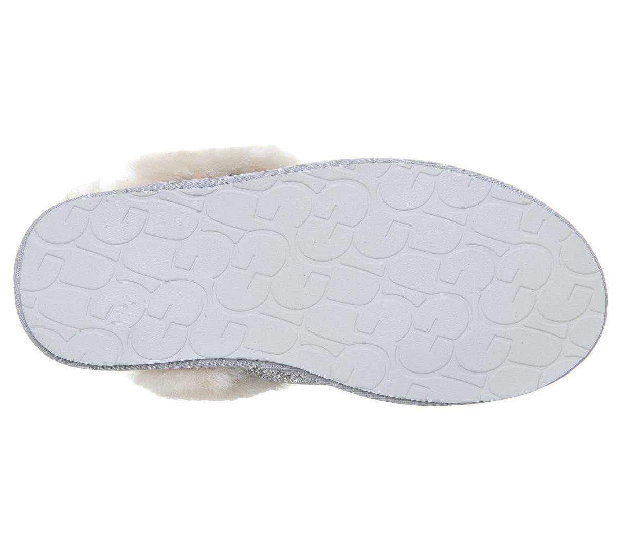 262850f40b73ce UGG Scuffette II Sparkle Slippers Silver - Flats
