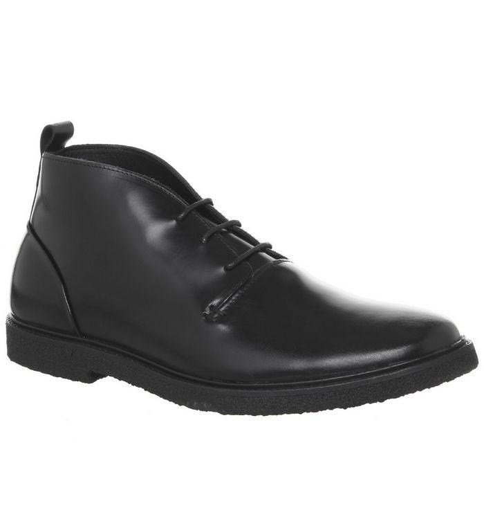 poste isoui boot black hi shine leather