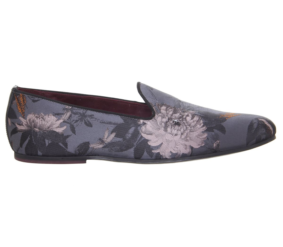 3e8c082f64e74b Ted Baker Vihan Evening Slippers Grey Floral - Smart
