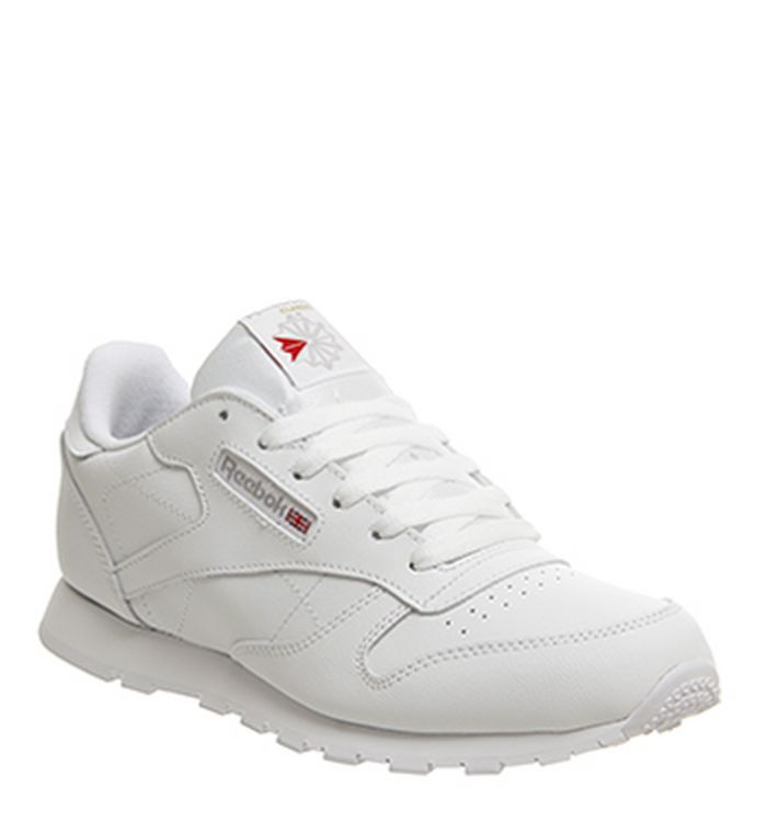 1214ae6f052 26-10-2018 · Reebok Classic Leather GS Trainers White