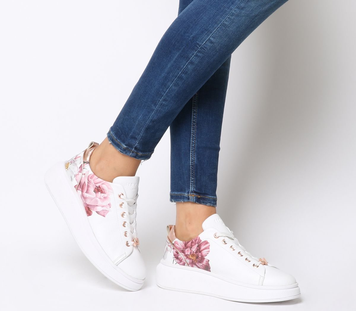 64cd8c4f8 Ted Baker Ailbe 2 Sneakers White Iguazu Leather - Hers trainers