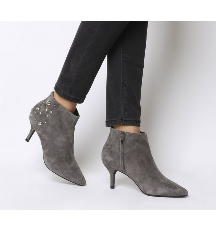 c14c5ab80 Ted Baker Liveca Boots Gunmetal Leather - Ankle Boots