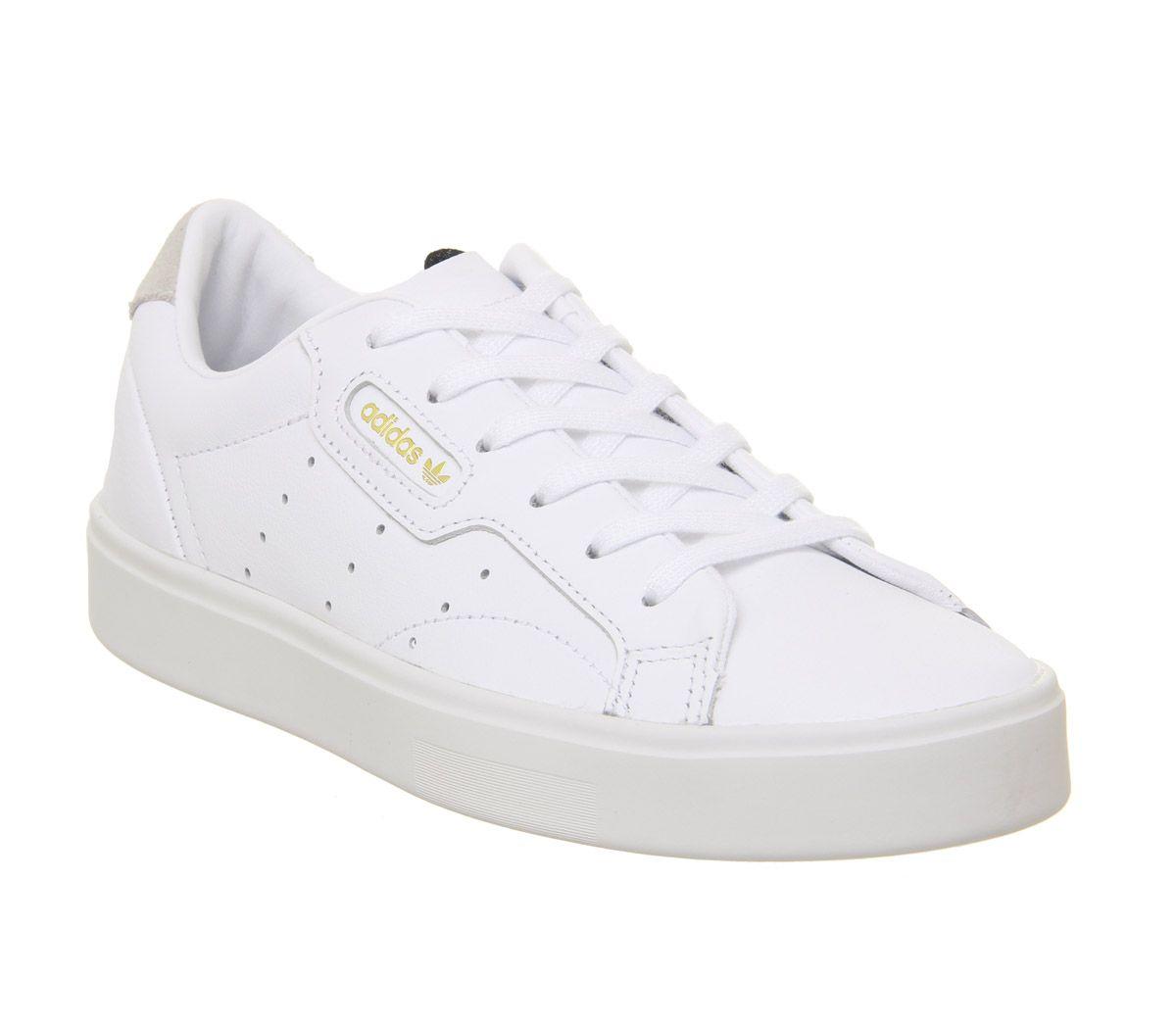 fb73c0547 adidas Sleek Trainers White White Crystal White - Hers trainers