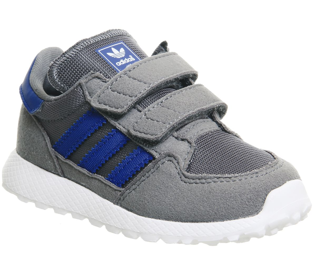 b9e4a828d adidas Forest Grove Infant Trainers Grey Four Collegiate Royal White ...
