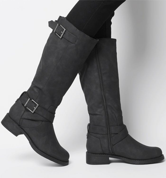49aba3cd804 Office Know It All Block Heel Knee Boots Black Suede 2. £55.00. Quickbuy.  11-01-2019
