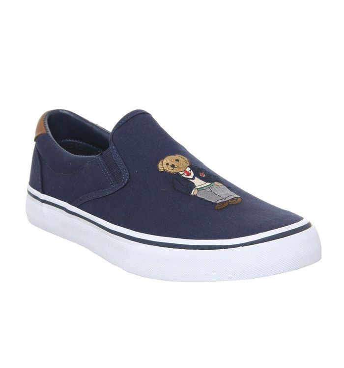 Ralph Lauren Thompson Slip On Sneakers NEWPORT NAVY