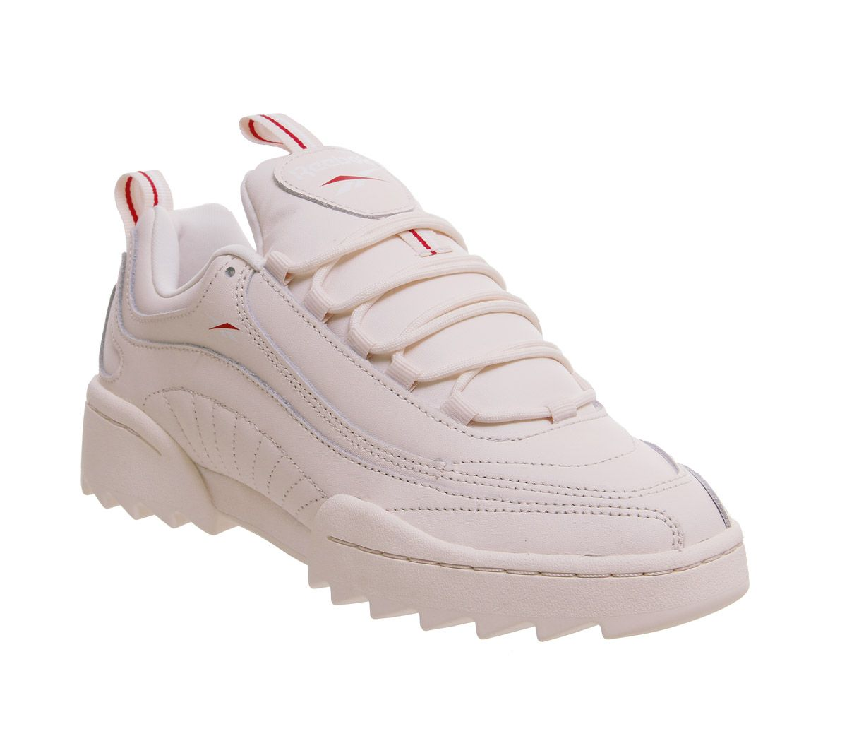 65d9912164d Reebok Rivyx Ripple Trainers Pale Pink White Excellent Red - Hers ...
