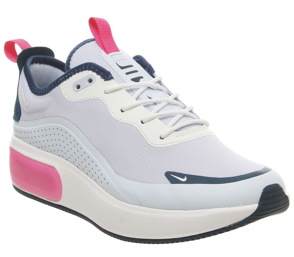 28c813035b Nike Air Max Dia Trainers Blue Force Hyper Pink Summit White - Hers ...