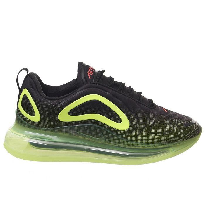 12684f97a1 Nike Air Max 720 Trainers Black Bright Crimson Volt - His trainers