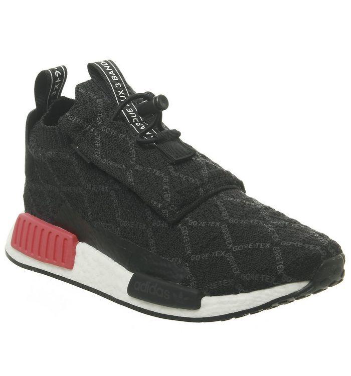 2803c7e8b adidas Nmd TS1 Trainers Goretex Black Carbon Shock Red Pk - Unisex ...