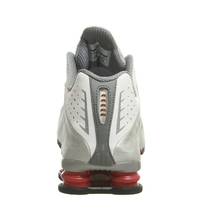 reputable site 35626 ef98f ... White Metallic Silver Cement Red Black  Nike Shox R4 Trainers  Nike  Shox R4 Trainers  Nike Shox R4 Trainers ...