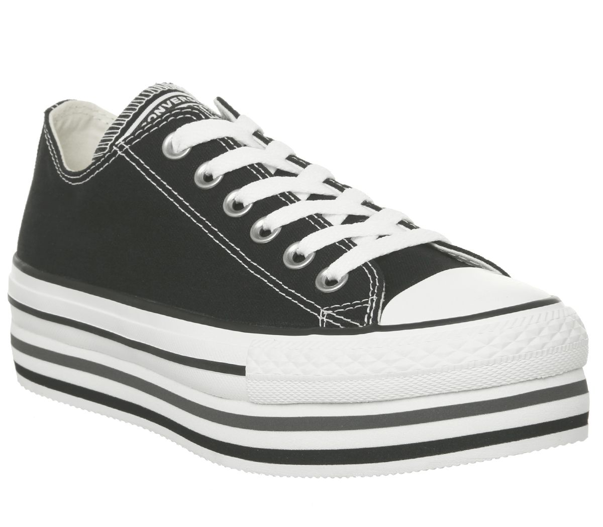 576a60604b3c Converse Chuck Taylor Platform Layer Ox Trainers Black White - Hers ...