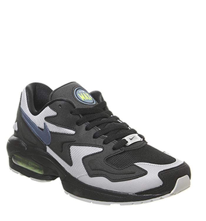 brand new 2173c b0927 15-05-2019. Nike Air Max 2 Light Trainers Black Blue Grey Yellow. £110.00.  Quickbuy