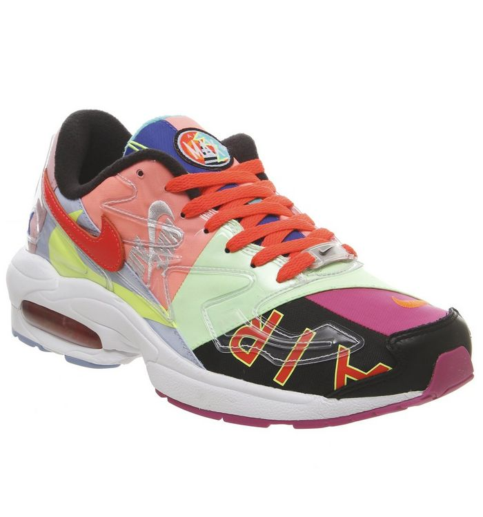 537a54254a Nike Air Max 2 Light Trainers Atmos Black Bright Crimson - His trainers
