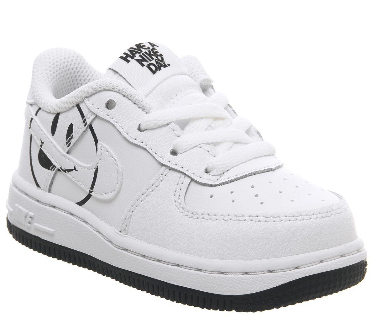 official photos d5491 7e9c3 Nike Air Force 1 Lv8 Trainers White Black Smile - Unisex
