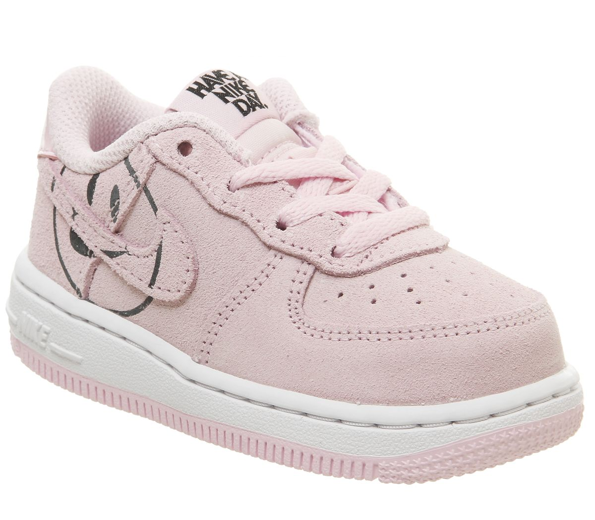 premium selection 450ac 1c9c0 Nike Air Force 1 Lv8 Infant Trainers Pink Foam Smile - Unisex