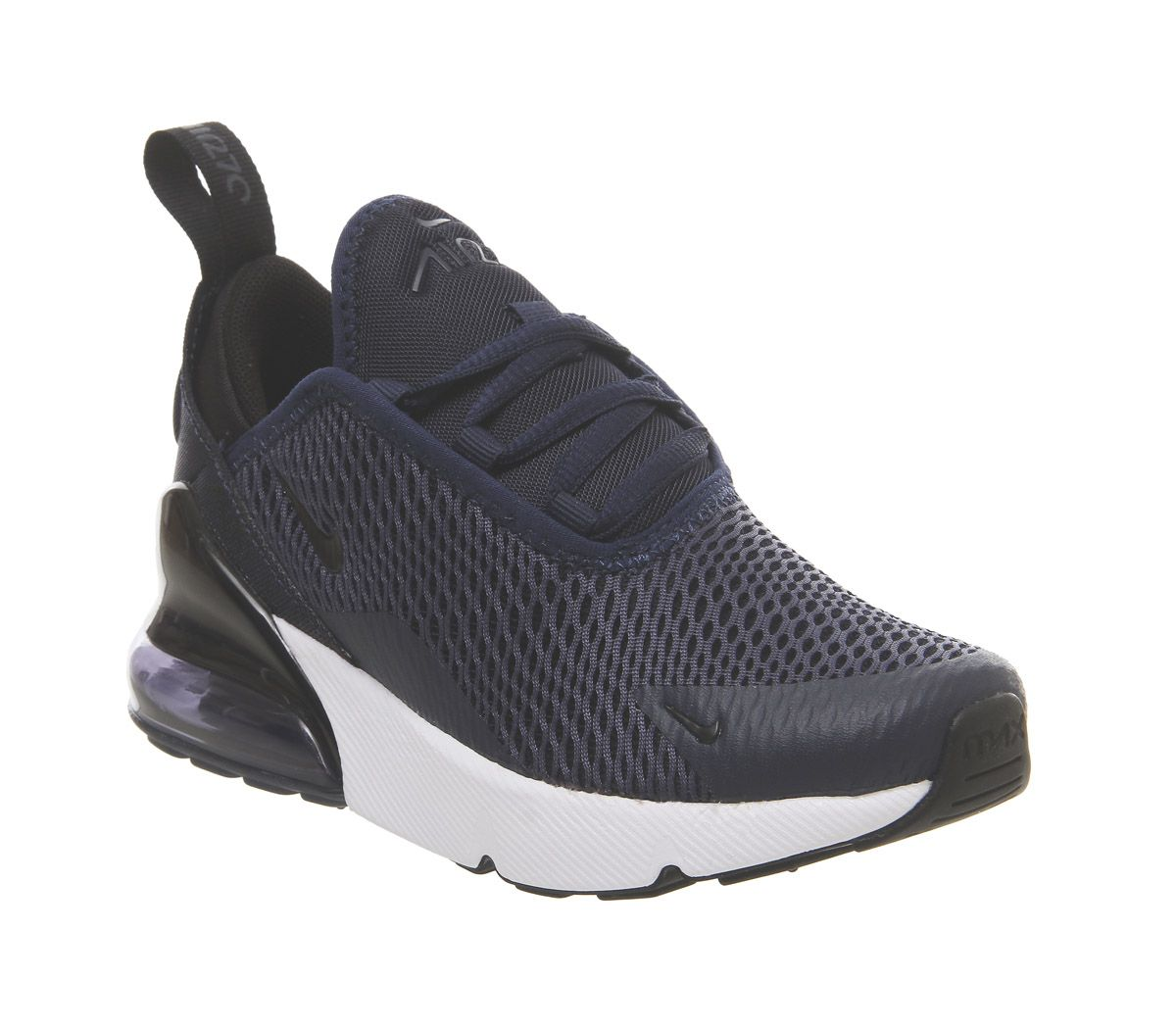 9d669b4a33 Nike Air Max 270 Ps Trainers Midnight Navy Black White - Unisex