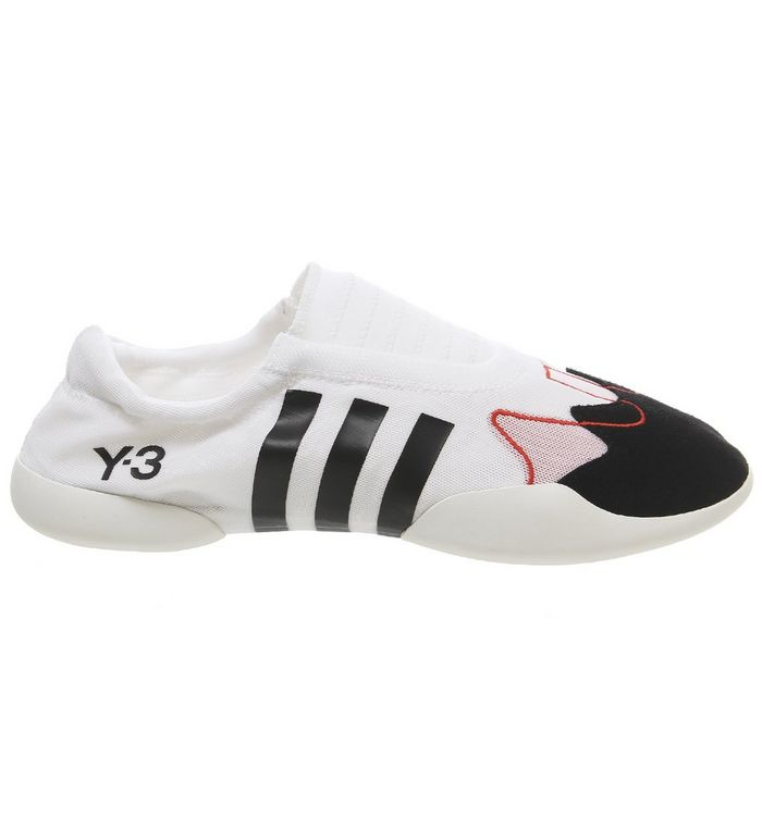 5279f352be578 adidas Y3 Y3 Taekwondo Slip Trainers White Black Pink - Hers trainers